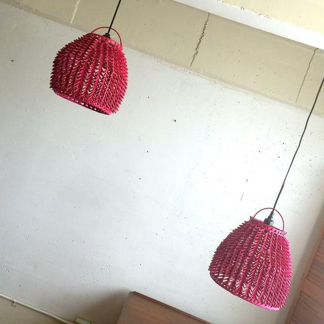 Fuchsia Basket Pendant Lamps - A Pair - Image 4 of 4