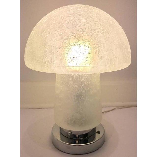 Italian Murano Glass and Chrome Mushroom Lamp - Image 4 of 8
