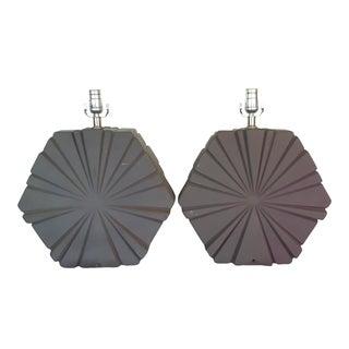 Mid-Century Ceramic Table Lamps - Pair