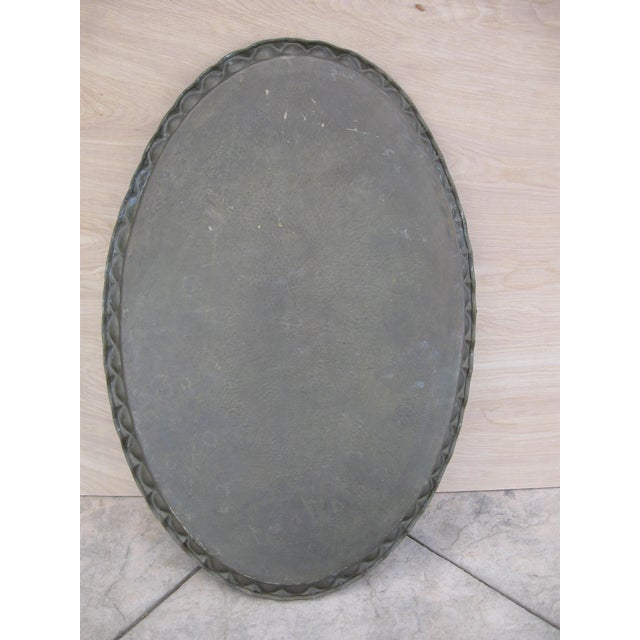 Image of Large Indian Brass Oval Tray