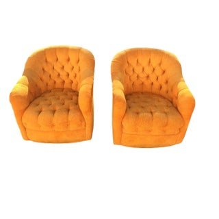 Ward Bennett Tufted Chairs - Pair