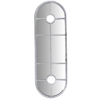 Architectural Grey Trellis Oblong Mirror