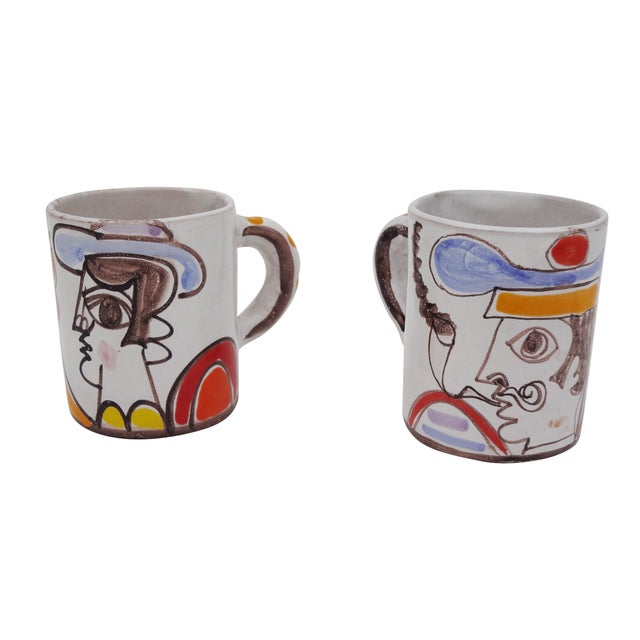 Ceramic Desimone Mugs - Pair - Image 2 of 7