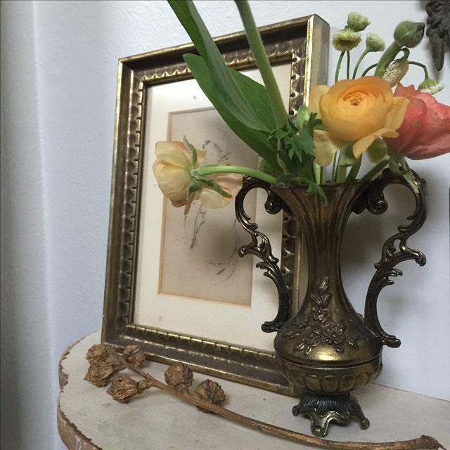 Petite Brass Single Flower Vase - Image 3 of 7