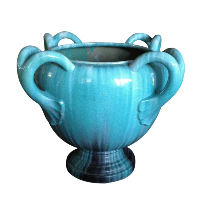 Image of A Massive French TurquoisePottery Jardiniere by Clement Massier Golfe-Juan