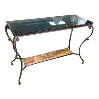 Metal & Stone Console Table