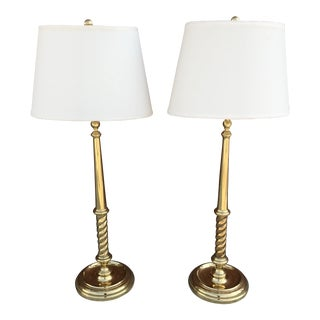 Chapman Brass Buffet Lamps - A Pair