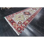 "Image of Apadana - Red Caucasian Runner Rug - 2'10"" x 10'"