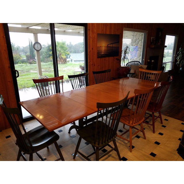 Ethan Allen Country Colors Dining Set With Table And 8 Fan