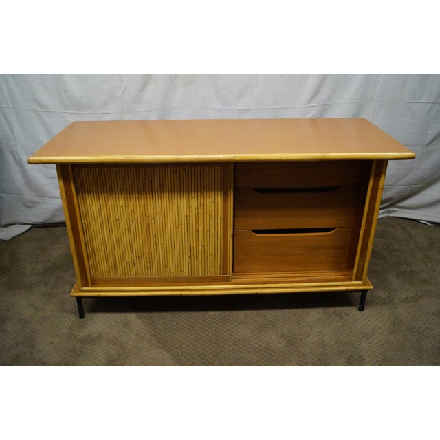 Mid-Century Bamboo Rattan Sideboard Credenza - Image 6 of 10