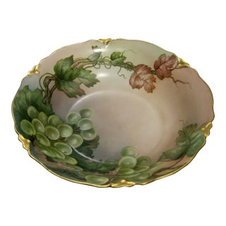 Antique Bavarian Lush Grape Bowl