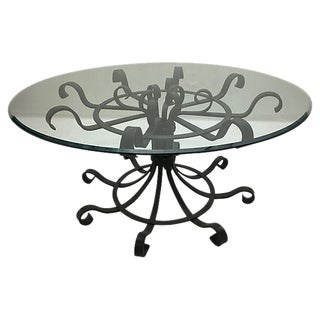 French Scrolled Wrought Iron Dining Table