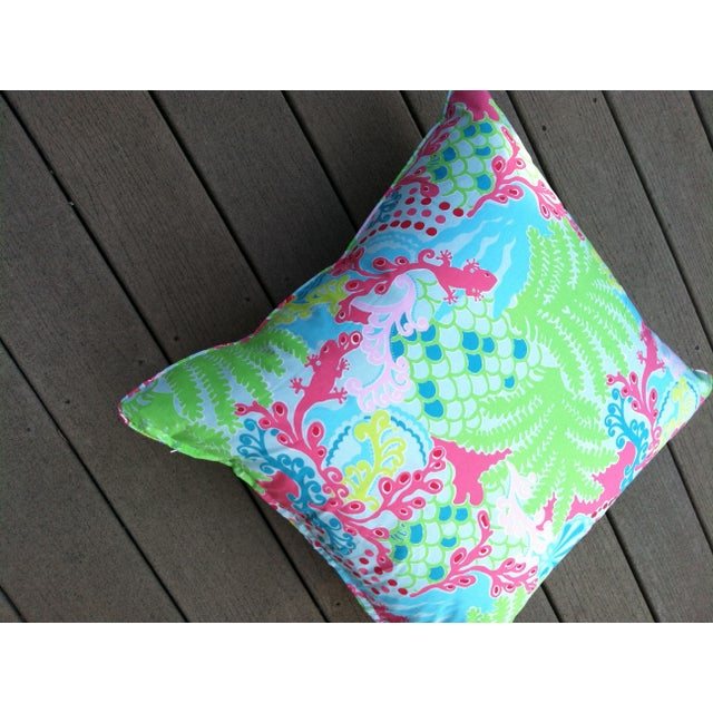 Lily Pulitzer Bright Throw Pillows - A Pair - Image 3 of 3