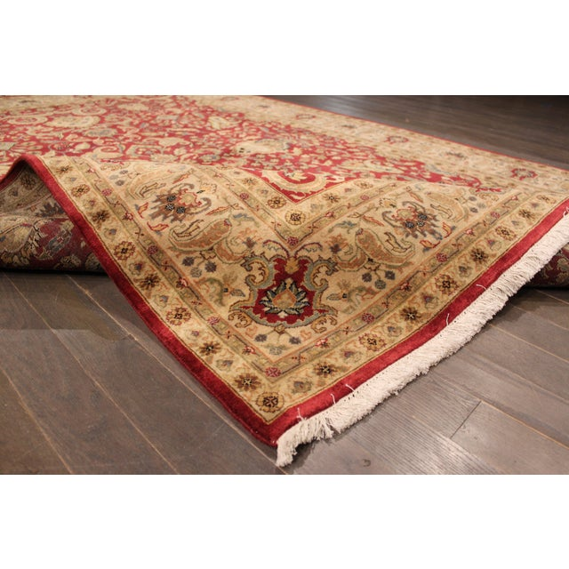 """Hand-Knotted Tabriz Wool Rug - 6' x 8'10"""" - Image 3 of 5"""