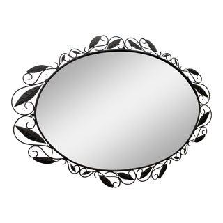 Large Oversized Italian Wrought Iron Mirror