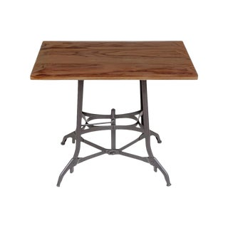 20s Industrial Walnut Side Table