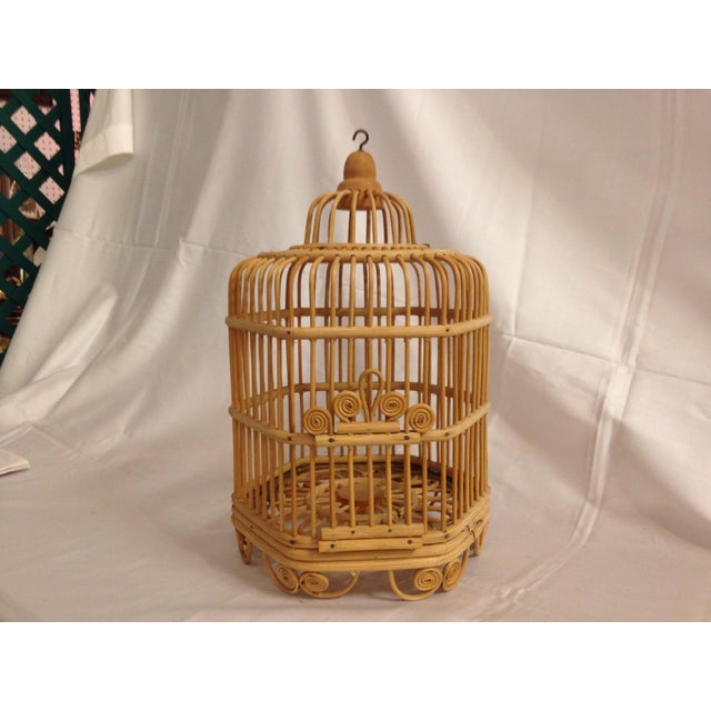 Vintage Bamboo Bird Cage - Image 2 of 6