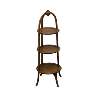 Biggs Mahogany Regency Style 3 Tier Muffin Stand