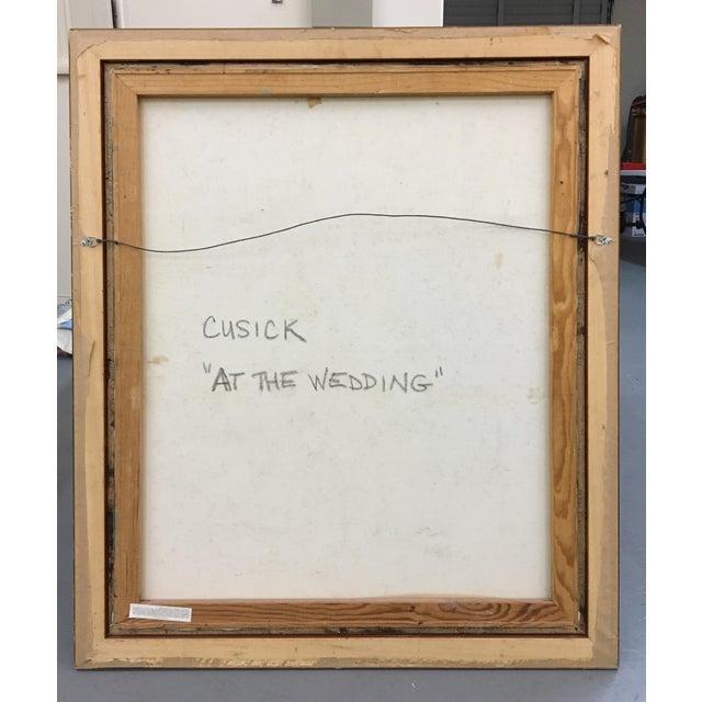 "Cusick ""At the Wedding"" Original Painting - Image 5 of 5"