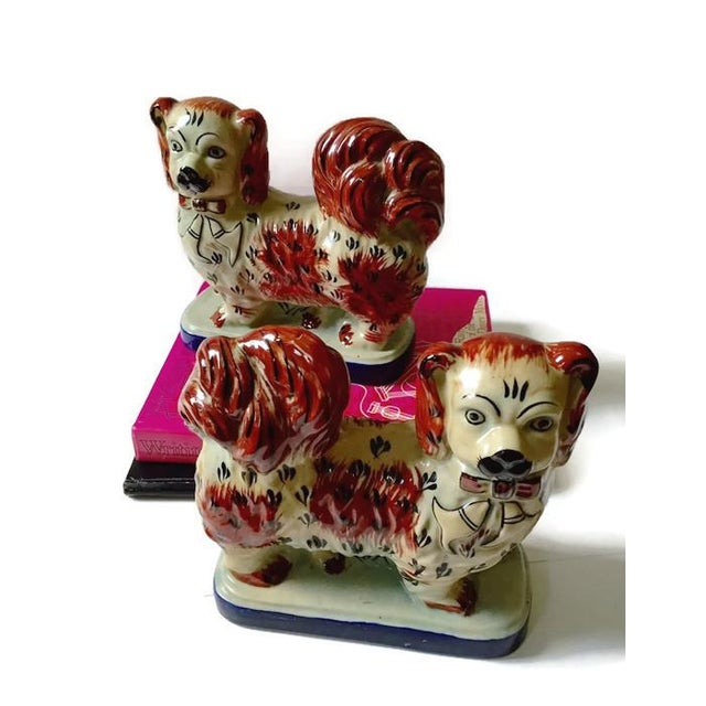 Vintage Tibetan Chinese Imperial Dogs - A Pair - Image 3 of 6
