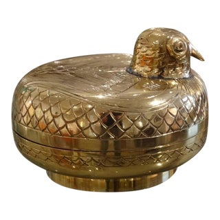 Lidded Brass Bird Box