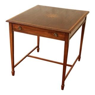Hepplewhite Inlaid Mahogany Game Table