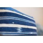Image of Handwoven Striped Indigo Lumbar Pillow