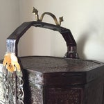 Image of Chinoiserie 3 Tier Wedding Basket with Greek Key