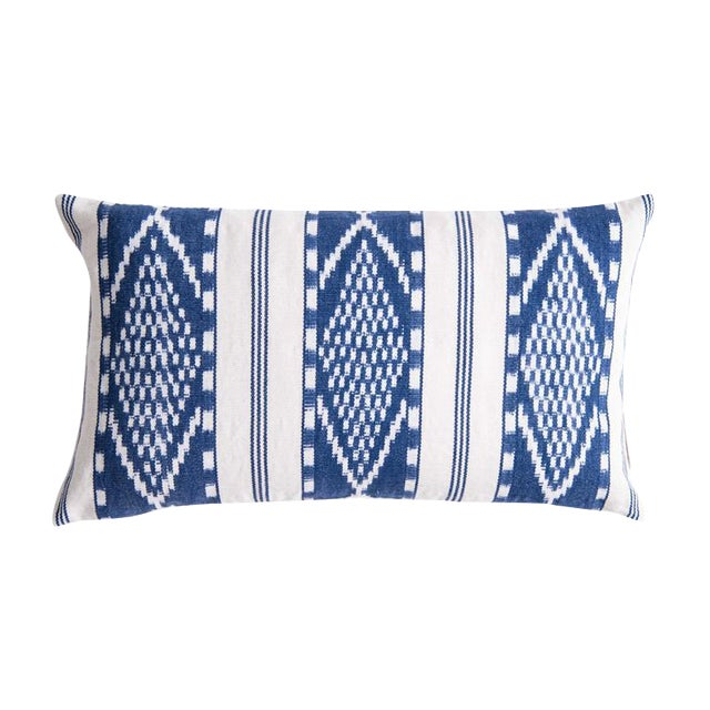 Naturally Dyed Indigo Pillow - Image 1 of 5