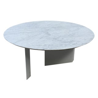 Custom White Marble Outdoor Dining Table