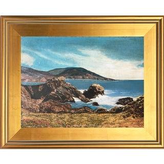 Vintage Oil Painting of California Coast