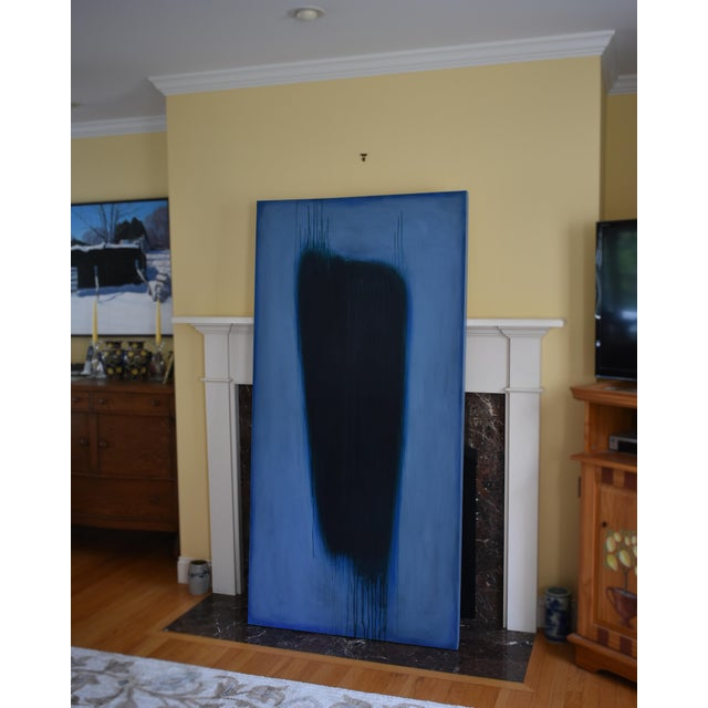 'Blue Torso' Abstract Painting - Image 9 of 11