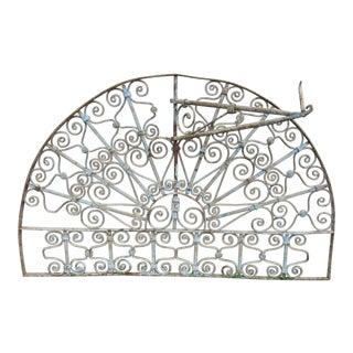 Antique Victorian Iron Garden Gate Window