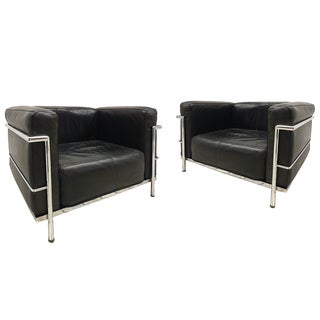 Le Corbusier LC-3 Armchairs - Pair