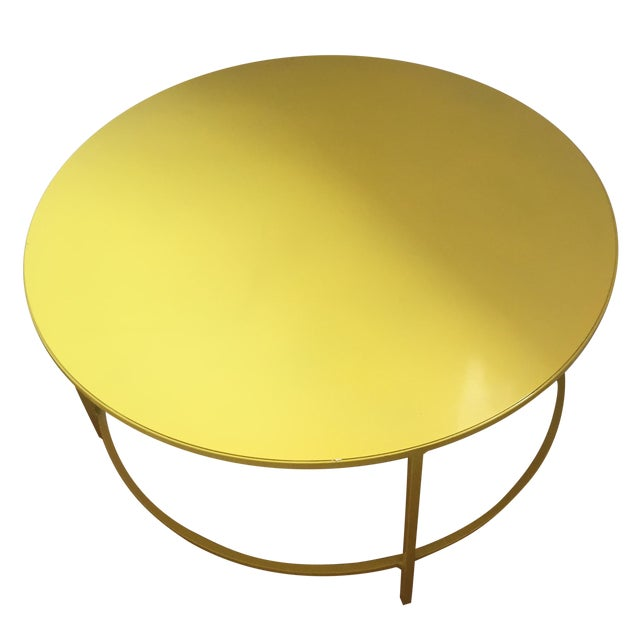 Slim, Round Cocktail Table - Image 1 of 3
