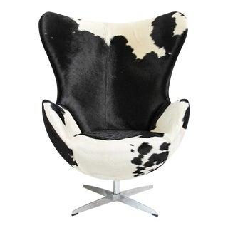 Cow Hide Egg Chair