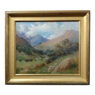 William Lees Judson -Beautiful California Landscape c.1900- Oil painting