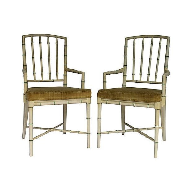 Bamboo Dining Room Chairs: Faux-Bamboo Drexel Dining Chairs - Set Of 6