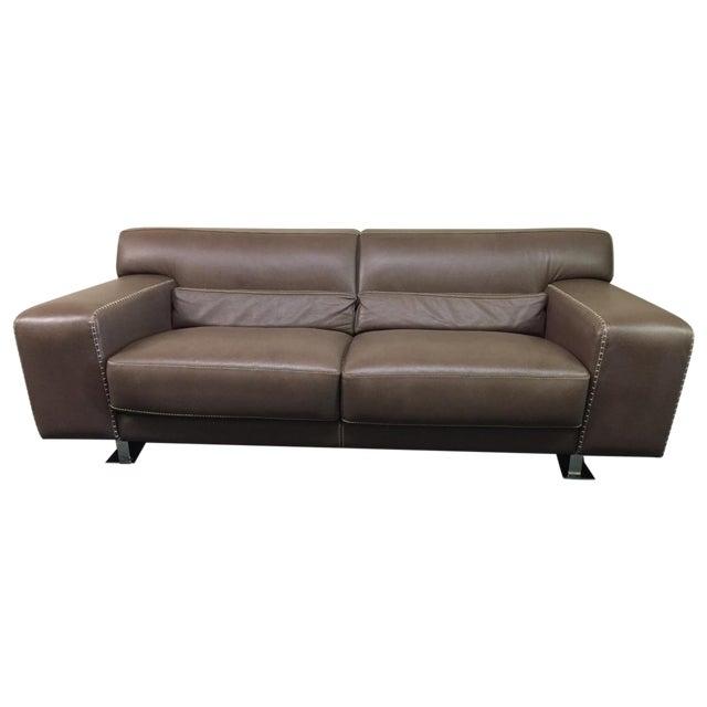Roche Bobois Urban Leather Loveseat - Image 1 of 10