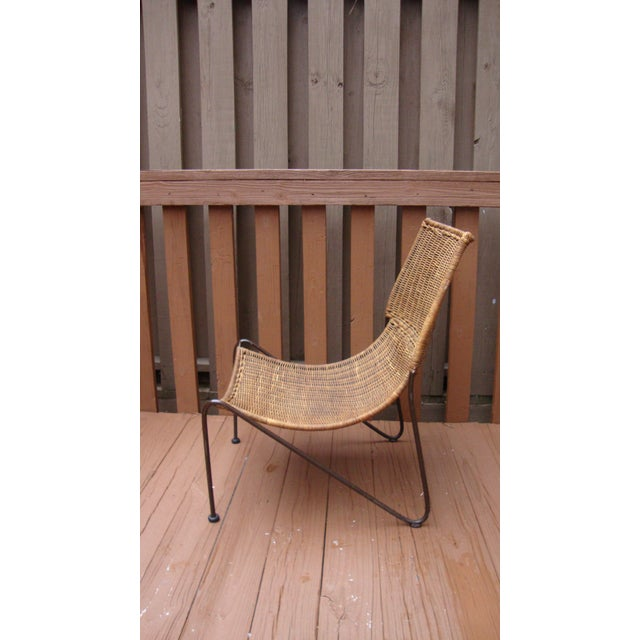Image of MCM Modern Wicker Iron Frederick Weinberg Chair
