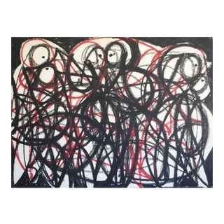 1956 Abstract Drawing by Robert Gilberg