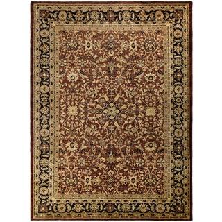 Kafkaz Peshawar Kelli Brown/Dark Blue Wool Rug - 10'2 X 14'0