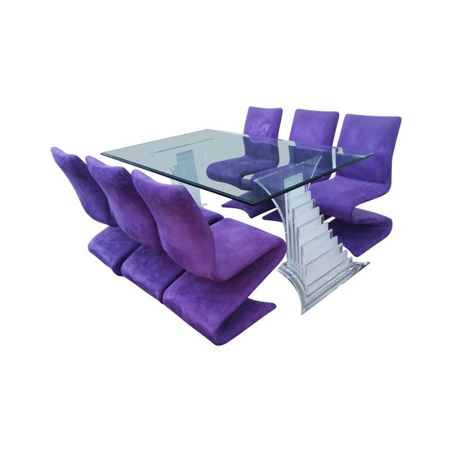 Image of 1980s Roger Rougier Dining Set