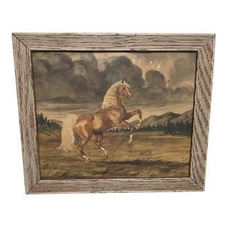 Jeanne Mellin Vintage Horse Lithograph