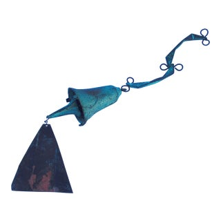 Paolo Soleri Modernist Bronze Wind Bell