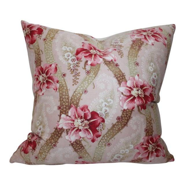 Vintage Floral Patterned Pillow - Image 1 of 6