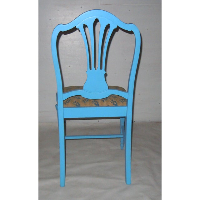 Blue Mid-Century Accent Chair - Image 5 of 8