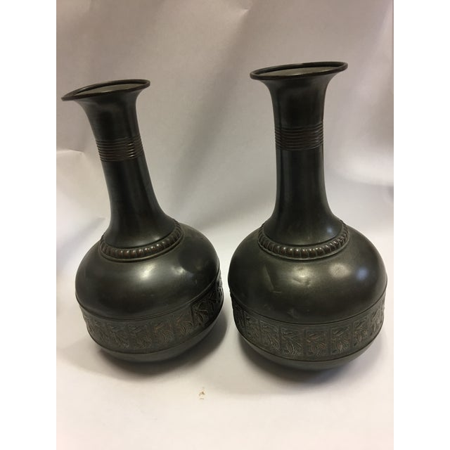 Vintage Tiel Copper Vases - A Pair - Image 3 of 10