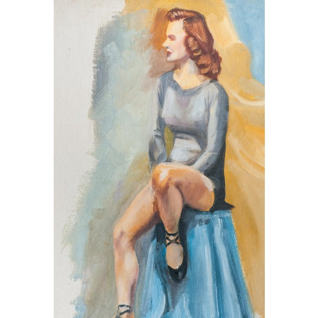 Vintage Dancer Oil Painting - Image 3 of 5