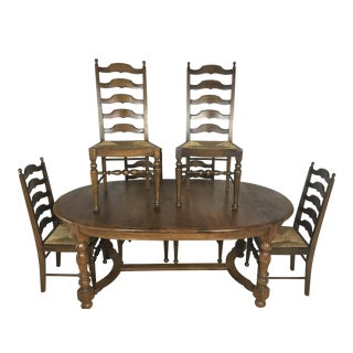 Antique Country French Oak Dining Set